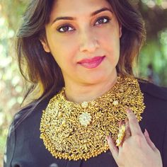 Fashion U Feel makes a bold statement with this ornate necklace from Jaipur Gems. India Jewelry, Ethnic Jewelry, Jewelry Sets, Indian Wedding Jewelry, Bridal Jewelry, Gold Jewelry, Jewelery, Gold Fashion, Fashion Jewelry