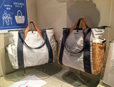 Yoccatta bags, made from recycled airbags and safety belts. #design #bags #ethicaldesign #style #rooms32