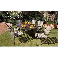 Palm Beach 7-Piece Patio Dining Set, Seats 6