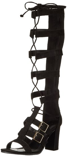 Qupid Women's Gladiator Sandal * Additional details at the pin image, click it : Lace up sandals Lace Up Sandals, Gladiator Sandals, Heeled Sandals, Footwear, Wedges, Pairs, Stylish, Lady, Heels
