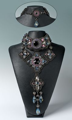Jewelry Design - Bib-Style Necklace with Swarovski Crystal, Seed Beads and Metal Beads - Fire Mountain Gems and Beads