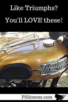 A Celebration of Triumph Motorcycle Gas Tanks! Cool Motorcycles, Triumph Motorcycles, Antique Bicycles, Posts, Blog, Cars, Triumph Bikes, Messages, Vehicles