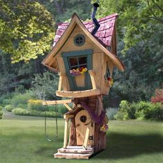 Design Dazzle: Tree Houses For Kids  Say what?  I want to be the kid that has this.
