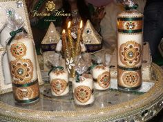Mariage marocain Vert or et rouge