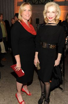 Marjorie G. on left. I'd do similar but substitute the red stuff with hot pink. NYSD.com.