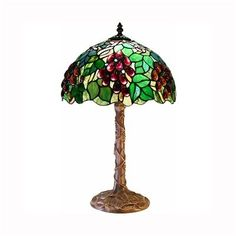 Warehouse of Tiffany 2318+BB639 TiffanyStyle Table Lamp, Bronze