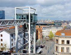 L'ascenseur reliant le Palais de justice aux Marolles