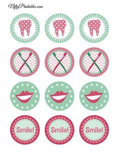 . Free Printables, Dental, Symbols, Peace, Tags, Party, Free Printable, Parties, Teeth