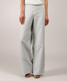 Love this Light Gray Linen Palazzo Pants by Eva Tralala on #zulily! #zulilyfinds