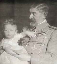 Baby Mihai with his grandfather Ferdinand