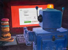 recaptcha - Eric Joyner Robots and Donuts Artist