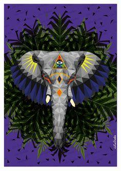 GASPAR - Zoométricos on Behance por Julia Guedes #lowpoly #artprint #illustration #digitalpainting #geometric #zoometricos