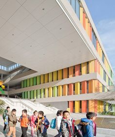 atelier Z + and D-plus studio encourage children to socialize in suzhou school - Scolaire architecture Suzhou, Education Architecture, School Architecture, Architecture Design, I School, Primary School, Elementary Schools, School Building Design, School Design