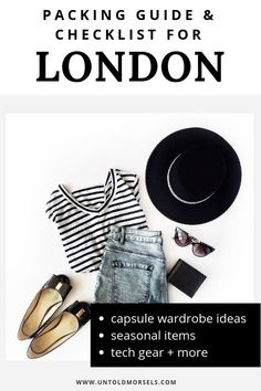 London Travel Tips - The Perfect Packing Guide For London. Snap To Learn How To Pack Your Bag So There Is Room For Souvenirs. Incorporates Capsule Wardrobe, Seasonal Variations, Tech And Beauty Items Plus Ultimate Packing List, Packing List For Travel, Travel Tips, Ultimate Travel, Travel Hacks, Travel Ideas, Golf Travel, Vacation Packing, Packing Checklist