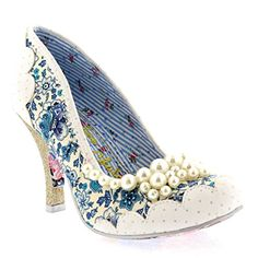 Irregular Choice Pearly Girly White / Blue 42 EU - http://on-line-kaufen.de/irregular-choice/42-eu-irregular-choice-pearly-girly-damen-pumps