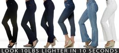 Miracle Body Jeans - One of Oprah's favorite things . . . guaranteed to make you look 10 lbs. lighter!