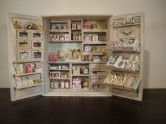 the first of the series. Stores in a cabinet the shop of soaps and perfumes. furniture and accessories have been designed and built by me.