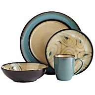 Pier 1 Teal Peacock Dinnerware.    gorgeous