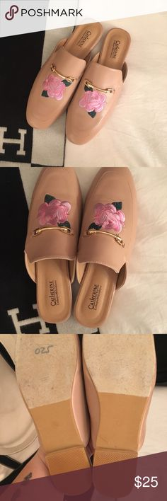 Rose Embroidered Loafers size 9 New! Never used! I bought these on impulse and they just don't look great on my foot! Another great Gucci dupe! Super fashionable! Catherine Malandrino Shoes Flats & Loafers