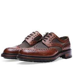 Barbour x Joseph Cheaney & Sons Boughton Brogue (Almond Grain)