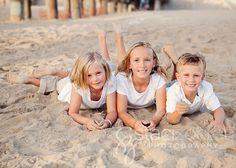 3-family posing ideas on the beach | Summer Fun at the Beach | Manhattan Beach Family Photographer