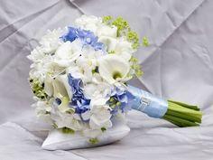 buchet mireasa alb albastru - Căutare Google