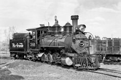 A Denver & Rio Grande C-19 4-8-0 locomotive built by Baldwin Locomotive Works. They were first introduced in 1878.