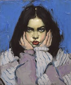 Malcolm Liepke, Head in Hands 2017, oil on canvas