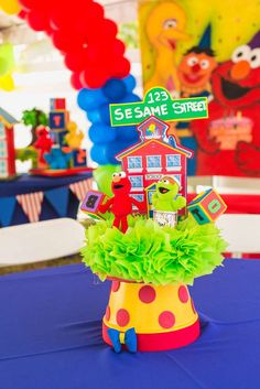 Sesame Street Birthday Party Decorations See More Ideas At CatchMyParty 1st