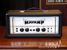 Rare British vintage amp from mid 70s. 1974 MATAMP GT-100 Head Amplifier. Very hard to find.Designed and built by Mat Mathias RadioCraft who also built Orange MATAMP in 60s. The GT-100 is the flagship 100W model of MATAMP amplifier. ECC83x2, EL34x4. Heavy duty transformers.Controls at the front are BASS-BOOST / DRIVE / BASS / TREBLE / PRESENCE / VOLUME. The slave output jack has been removed, now it has standby switch for safe working. 110V / 118V / 220V / 240V is selectable and 3.75Ω…