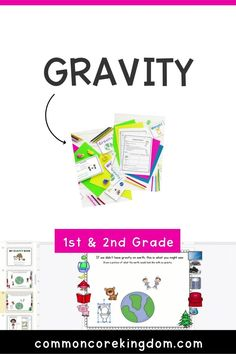 1st & 2nd grade printable and digital Gravity unit perfect for distance learning or in the classroom. Includes vocabulary cards, mini book, flip book activity, lab experiment, and quiz. Elementary Science, Elementary Teacher, Force And Motion, Vocabulary Cards, Science Lessons, Mini Books, Book Activities, Second Grade, Experiment