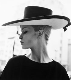 Celia Hammond modelling for Simone Mirman Spring and Summer Collection 1962.