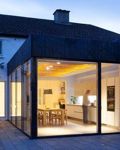 Kitchen addition in Copeland Grove, North Dublin, Ireland at night