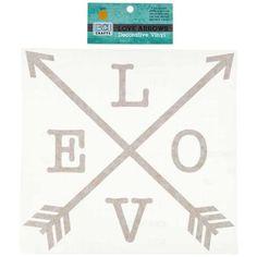 Gold Decorative Vinyl Love Arrow
