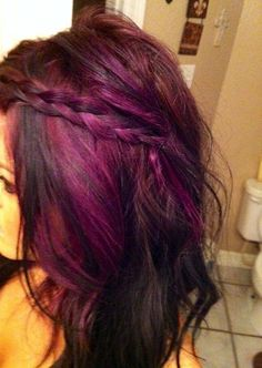 Purple hair. Highlights.