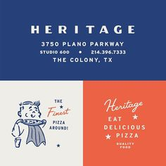 Some shots and process of the custom type and assets I designed for Hertiage Pizza. and I collaborated on the entire… Brand Identity Design, Graphic Design Branding, Typography Design, Packaging Design, Logo Design, Pizza Branding, Logo Branding, Visual Communication Design, Types Of Lettering