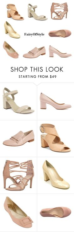 """Looking for some nude shoes"" by fairyofstyle on Polyvore featuring мода, Triver Flight, Charles by Charles David, Chinese Laundry, Summit, Roger Vivier и Jessica Simpson"