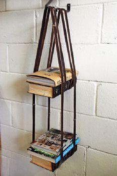 Leather Book Shelf