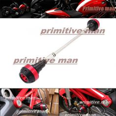 74.99$  Watch now - http://alicb8.worldwells.pw/go.php?t=32339078739 - For DUCATI Monster 696 796 2010-2014  Motorcycle Frame Sliders Crash Protector Red 74.99$