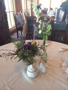 These center pieces are awesome. We got to do lots of cool and different styles. So fun! #willowspecialty #utahweddings