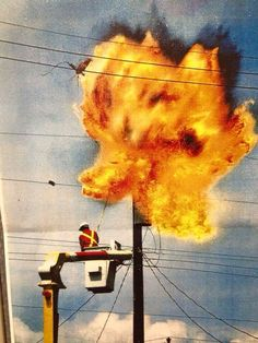 Transformer blowing up Electrical Safety, Electrical Projects, Electrical Installation, Lineman Wife, Power Lineman, Journeyman Lineman, Work Accident, Transmission Line, Funny Memes About Life