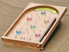 Marble Pinball Game - step by step tutorial for kids game. woodworking toy http://www.runnerduck.com/pinball.htm
