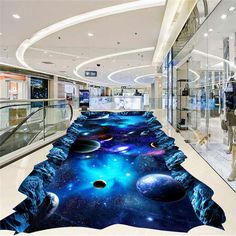 Galaxy Universe Painting 3D Floor Mural Photo Flooring Wallpaper Home Wall Decal #SweetHome