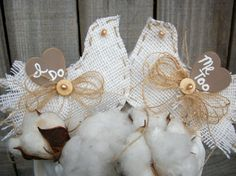 Wedding Bride Country Burlap Cake Topper by BlissfulBashfulBride, $42.99