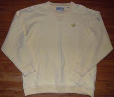 The Masters Augusta Nationals PGA Vintage Slazenger Crew Neck Sweater Size L #Slazenger #Crewneck