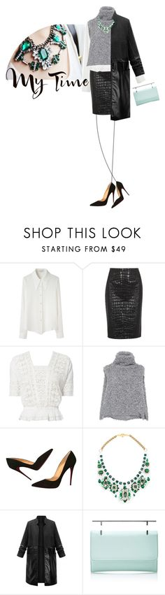 """""""It's my time"""" by scelestum ❤ liked on Polyvore featuring Dolce&Gabbana, Opening Ceremony, Moschino Cheap & Chic, Tag, LoveShackFancy, Vika Gazinskaya, Christian Louboutin, Shourouk and M2Malletier"""