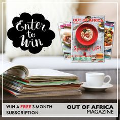 WIN A FREE 3 MONTH SUBSCRIPTION with OUT OF AFRICA Magazine!  If you love to be inspired by the latest trends stylish solutions and fresh new ideas for your home kitchen and style here is a great chance for you to win a FREE 3 month subscription to Zimbabwes leading lifestyle and entertainment magazine.  All you have to do to enter is:  Like & comment which has been your favourite issue this year.  Competition closes Tuesday 5th July 2016. Happy reading & Good luck!
