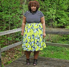 Curvaceously Bee: Neon Florals