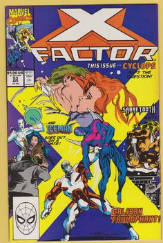 X Factor No.53 comic book Pub. 1990 Marvel Comics, Fine condition by GrrlPickers on Etsy