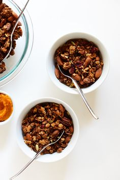 Sweet Potato Granola with Cranberries and Pepitas | minimalistbaker.com